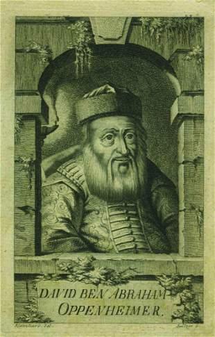 Rabbi David Oppenheimer - Etching
