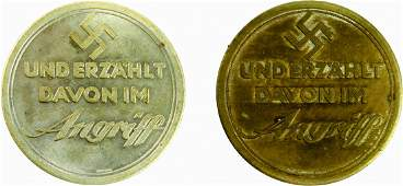 """""""A Nazi Travels to Palestine"""", 1934 - Two Medals"""