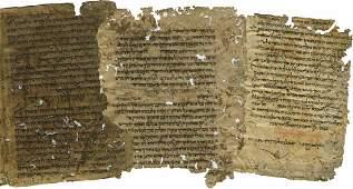 Mishne Torah L'HaRambam - Manuscript Leaf Remnants