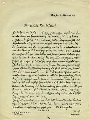 Theodor Herzl - Signed Circular Letter - Vienna, 1901