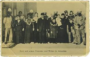 Postcards - Herzl's Grave / Herzl's Visit to Jerusalem