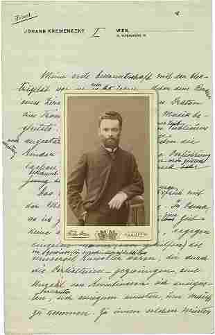 Documents - First JNF Chairman Yona (Johann) Kremenezky