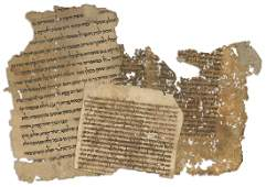 Fragments of Ancient Handwritten and Printed Leaves