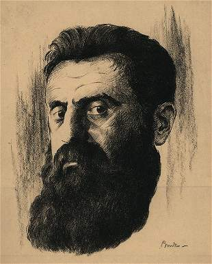 Joseph Budko - Portrait of Theodor Herzl