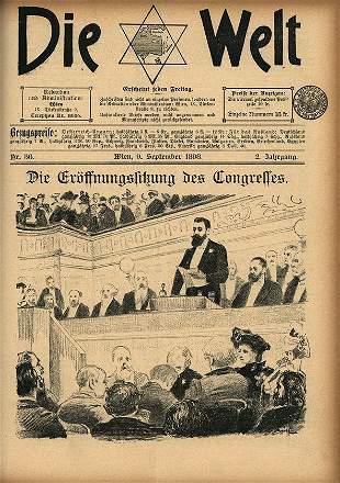 Die Welt, Zionist Weekly Newspaper - Theodor Herzl -