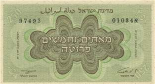 Legal Currency Proposal Banknote  250 Pruta