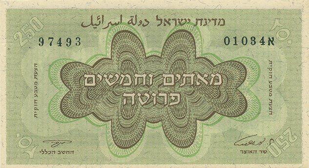 Legal Currency Proposal Banknote - 250 Pruta -