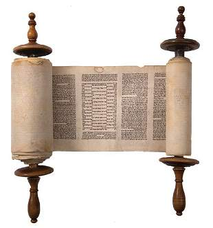 Torah Scroll - 19th Century