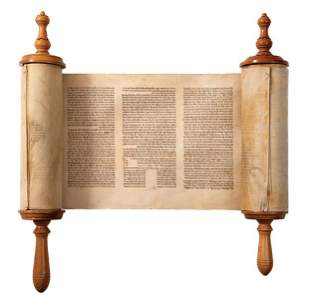 Torah Scroll - 19th Century - With Changes in the