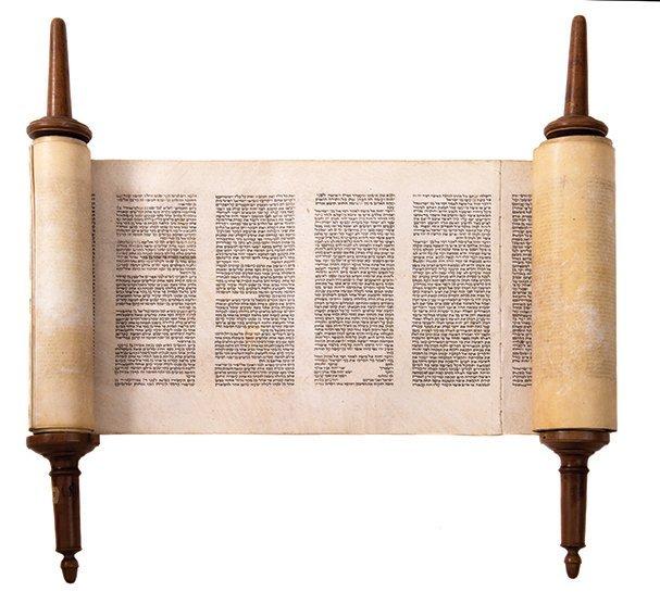 Torah Scroll - North Italy, 19th Century
