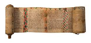 Illustrated Esther Scroll on Parchment