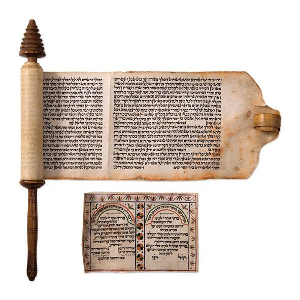 """Esther Scroll on Parchment - """"HaMelech"""" Scroll /"""