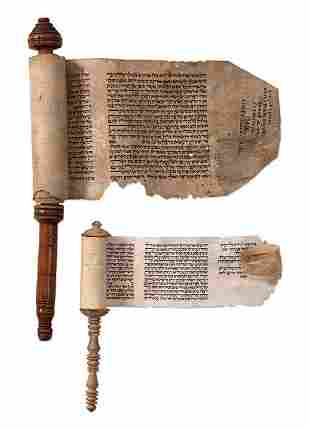 Two Esther Scrolls on Parchment - Jerusalem / Baghdad
