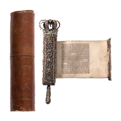 Esther Scroll on Parchment - Silver Case