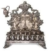 Silver Hanukkah Lamp - Russia-Poland, 1877