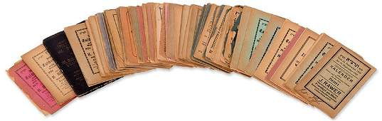 Large Collection of Calendars - Germany, 1888-1939