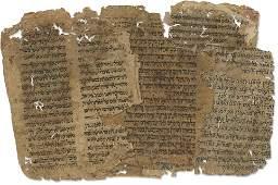 Collection of Ancient Manuscript Leaf Fragments -