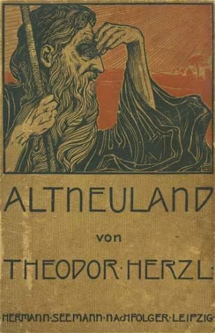 """""""Altneuland"""" - First Edition - Leipzig, 1902"""