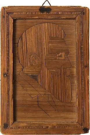 Portrait of Theodor Herzl - Straw Work