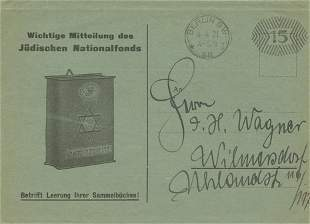 Jewish National Fund and the Blue Box - Four Documents