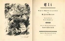 """Eli"" - Mikhah Yosef Bin-Gorion - Signed Lithograph by"