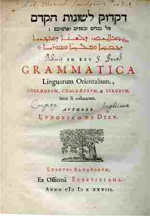 """""""The Grammar of the Ancient Languages of the Hebrews,"""
