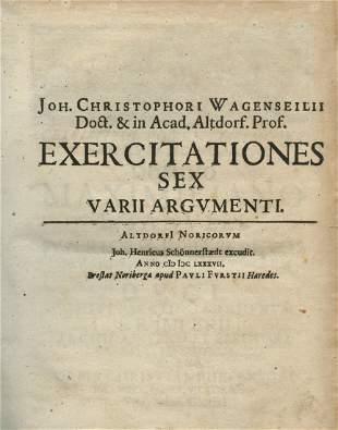 Two Essays by Johann Christoph Wagenseil - Altdorf,