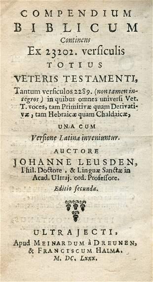 Johanne Leusden - Compendium Biblicum / Compendium