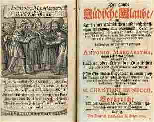 Two Books on Judaism - Leipzig, 1705 - Etchings