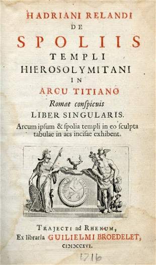 Adriaan Reland - Study on the Arch of Titus and the