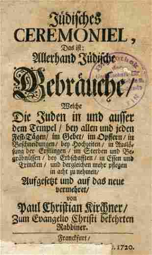 Kirchner - Essay on Jewish Customs and Ceremonies -