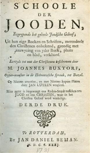 Johannes Buxtorf - Schoole der Jooden - Rotterdam, 1731