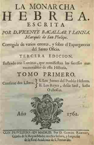"""Hebrew Monarchy"" - Two Volumes - Madrid, 1761 -"