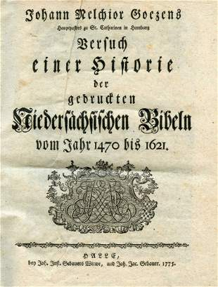 History of the Bibles printed in Saxony during the