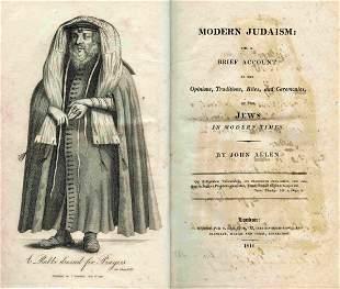 Modern Judaism - John Allen - London, 1816