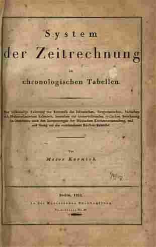 Comparison of Calendars - Berlin, 1825