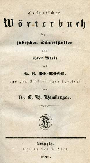 Historical Dictionary of Jewish Authors and their Works