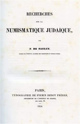 Book on Jewish Numismatics - F. De Saulcy - Paris, 1854
