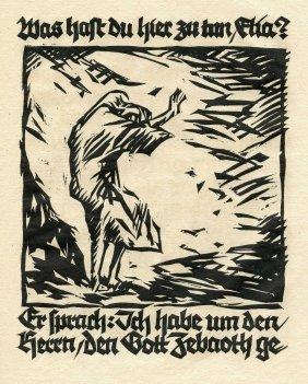 Elia - Rudolf Koch - Woodcuts - Offenbach, 1921