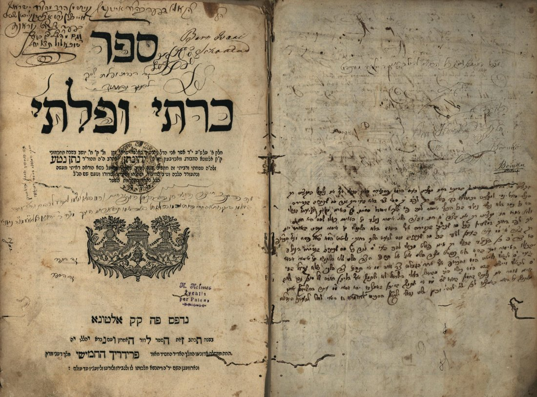 Kreiti U'Pleiti - First Edition, Altona 1763 -