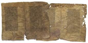 Fragments of a Manuscript on Parchment - Sefer Mitzvot