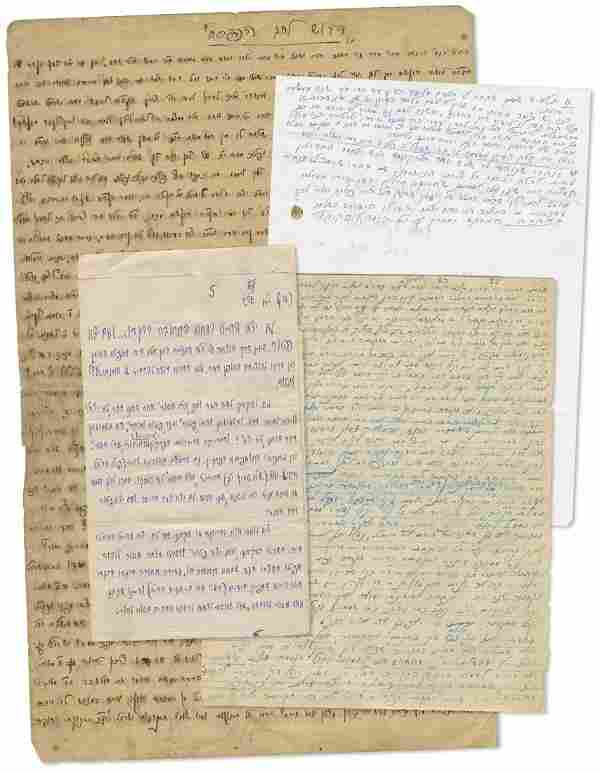 Large Collection of Manuscripts and Letters Containing