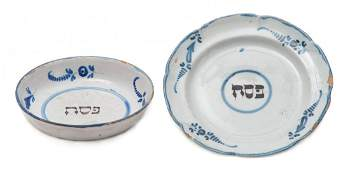 Small Bowl and Ceramic Passover Seder Plate