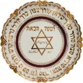 Porcelain Passover Seder Plate - Carlsbad, 1911