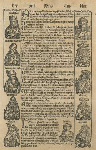 Collection of Leaves from Nuremberg Chronicle by