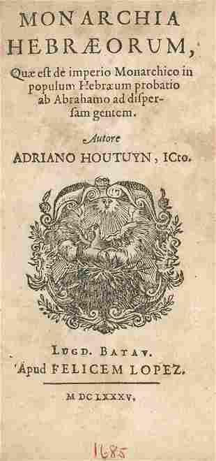 """Kingdom of the Hebrews"" - Leiden, 1685 - Engraving"