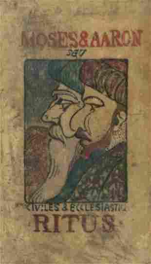 Moses & Aaron - Original Drawing on Vellum - Bremen,