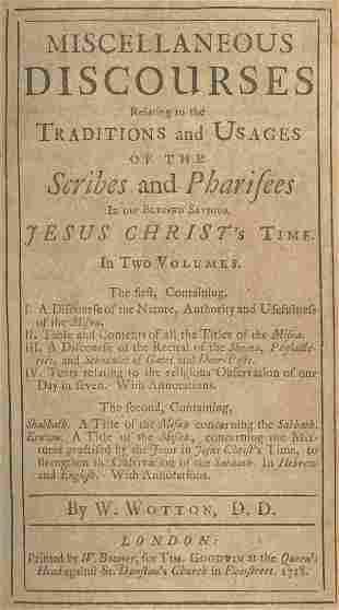 Shabbath and Eruvin Tractates - London, 1718 - English