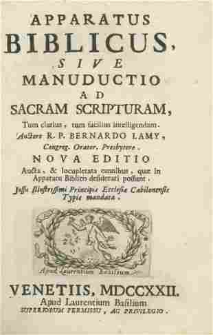 Bible and Jewish History - Venice, 1722 - Latin