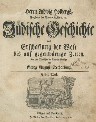 """Jewish History"" - Ludwig Holberg - Altona and"